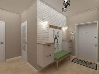 Vision Design Modern corridor, hallway & stairs Green