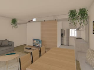 Reforma Integral - Piso Trafalgar Luciane Gesualdi   arquitectura y diseño Comedores de estilo moderno