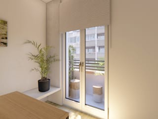 Reforma Integral - Piso Trafalgar Luciane Gesualdi   arquitectura y diseño Balcón