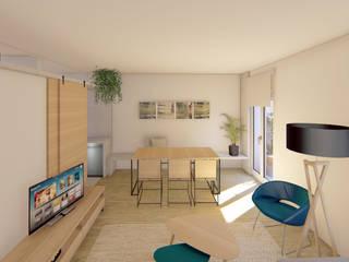 Salón y comedor Luciane Gesualdi   arquitectura y diseño Comedores de estilo moderno