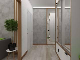 Vision Design Modern corridor, hallway & stairs Grey