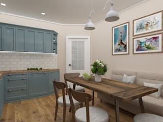Vision Design Modern style kitchen Blue