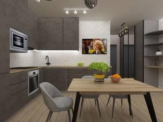Vision Design Modern style kitchen Grey