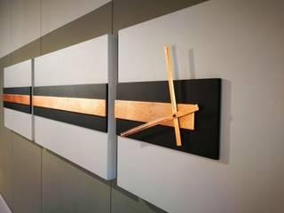 Railway orologio da parete Nosenso Design Sensations CasaAccessori & Decorazioni MDF Bianco