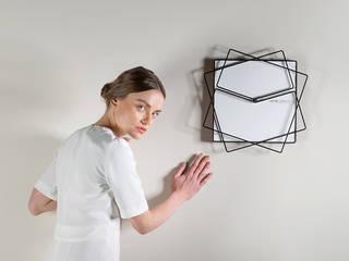 Frame Clock orologio da parete Nosenso Design Sensations CasaAccessori & Decorazioni Alluminio / Zinco Bianco