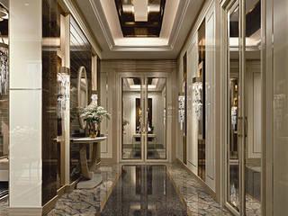 Ego - Brummel BRUMMEL Classic style corridor, hallway and stairs Solid Wood White