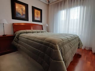 Cortinas y redecoración dormitorio con Baitex Aroa Proyecto XXI DormitoriosTextiles