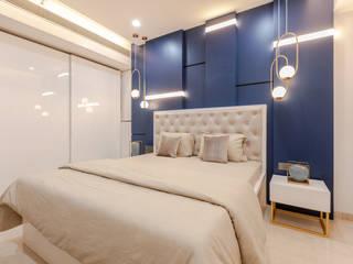 Interior Design at Worli Neha Dharkar Modern style bedroom Blue