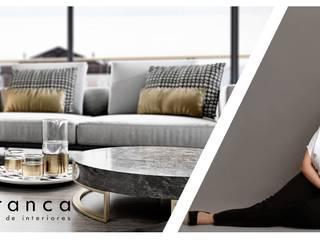 Visualização Arquitetónica Foto-Realista Areabranca Salas de estar modernas
