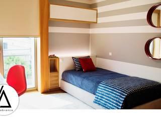 Projeto - Design de Interiores - Quarto de Adolescente Rapaz - Moradia RN Areabranca Quartos de rapaz