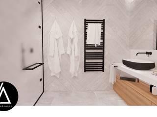 Projeto - Arquitetura de Interiores - WC Suite JS Areabranca Casas de banho minimalistas