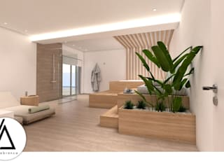 Projeto - Arquitetura de Interiores - SPA Moradia PI Areabranca Spa minimalista