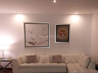 Remodelación de departamento - diseño y ejecución de obra Pamela Suzuki Salas modernas Hierro/Acero Blanco