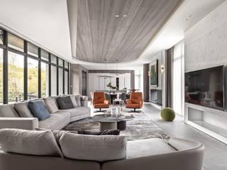 曦白樂居 仝育室內裝修設計有限公司 现代客厅設計點子、靈感 & 圖片