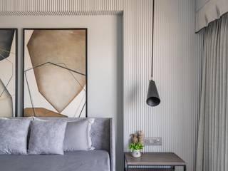 DESIGNER'S CIRCLE Kamar Tidur Modern Kayu Grey
