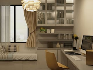 Dezeno Sdn Bhd Minimalst style study/office Silver/Gold Amber/Gold