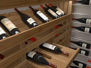 Volo Vinis Cantina in stile industriale Legno Effetto legno