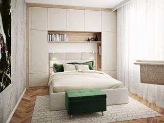 Klaudia Tworo Projektowanie Wnętrz Sp. z o.o. ห้องนอนขนาดเล็ก White