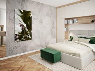 Klaudia Tworo Projektowanie Wnętrz Sp. z o.o. ห้องนอน White