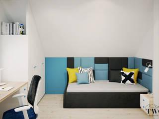 Klaudia Tworo Projektowanie Wnętrz Sp. z o.o. ห้องนอนเด็กชาย White