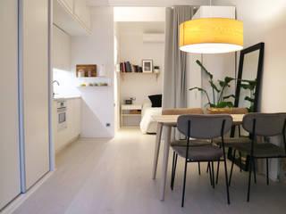 Un loft sostenible en el centro de Valencia Arquitectura Sostenible e Interiorismo | a-nat Cocinas integrales Blanco