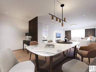Dezeno Sdn Bhd Modern dining room Wood Brown