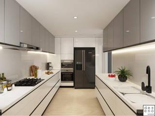 Dezeno Sdn Bhd Built-in kitchens Silver/Gold Grey