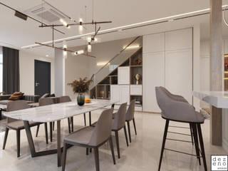 Dezeno Sdn Bhd Modern dining room Quartz Grey
