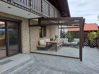Schmidinger Wintergärten, Fenster & Verglasungen Modern Conservatory Aluminium/Zinc Brown