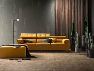 Un tocco di giallo L&M design di Marelli Cinzia Soggiorno moderno Giallo