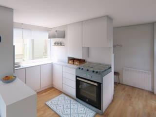 Diseño de Interiores - Piso Fuencarral Luciane Gesualdi   arquitectura y diseño Cocinas pequeñas