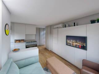 Diseño de Interiores - Piso Fuencarral Luciane Gesualdi   arquitectura y diseño Comedores de estilo moderno
