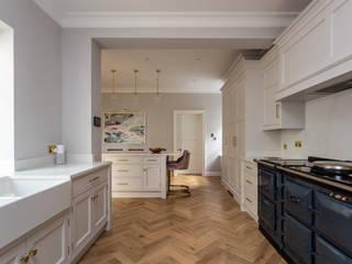 Cool white Edwardian style kitchen John Ladbury and Company Kitchen
