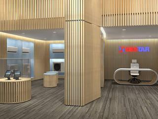 SHOWROOM DESTAR Arch+ Studio Negozi & Locali commerciali moderni