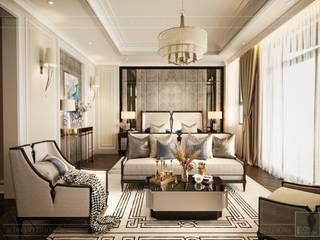 THIẾT KẾ NỘI THẤT BIỆT THỰ PHONG CÁCH TÂN CỔ ĐIỂN CÔNG TY CP THIẾT KẾ NỘI THẤT ICON Living roomSofas & armchairs