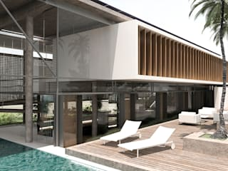 Costa Rica RRA Arquitectura Piscinas de jardín Madera Blanco