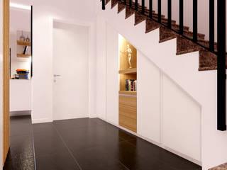 Living CM Idea Design Factory Ingresso, Corridoio & Scale in stile moderno