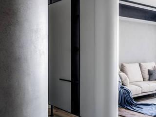 掠光浮島 築本國際設計有限公司 隨意取材風玄關、階梯與走廊