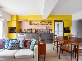 à la maison-自分らしいインテリアにこだわった、カラフルで楽しい家 株式会社ブルースタジオ システムキッチン 黄色