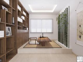 Dezeno Sdn Bhd Modern style study/office Plywood Beige