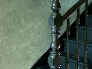 Pure & Original Vestíbulos, pasillos y escalerasEscaleras Verde