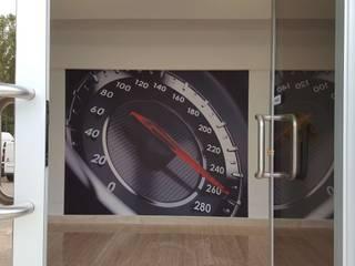 DECORAZIONE UFFICIO MONDOSTICKERS Concessionarie d'auto moderne PVC