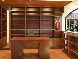 Studio in stile classico Falegnamerie Design Studio in stile classico Legno Marrone