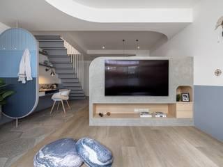 森叄設計 Salas de estar escandinavas