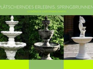 Springbrunnen / Gartenbrunnen ein Blickfang für den Garten! TRAX-MATTHIES Säulen Balustraden Stuck Mediterraner Garten