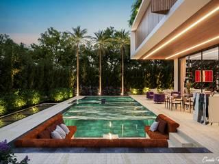 Camila Pimenta   Arquitetura + Interiores Garden Pool Stone Multicolored