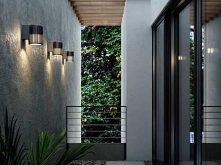 Illuminazione esterni ENGI Lighting Ingresso, Corridoio & ScaleIlluminazione Metallo Marrone