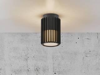 Matrix ceiling ENGI Lighting Balcone, Veranda & Terrazza in stile moderno Metallo Ambra/Oro