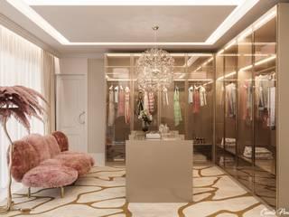Camila Pimenta | Arquitetura + Interiores 更衣室 木頭 Pink