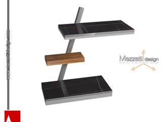 Mezzettidesign Living roomSide tables & trays Iron/Steel Black